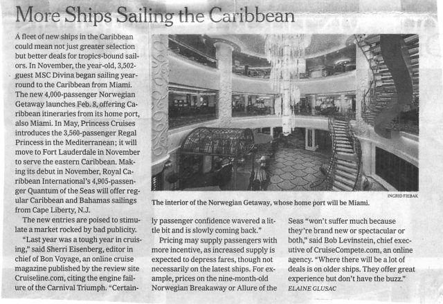 Good News -- if You Want Many More Cruiseship Passengers in the Caribbean